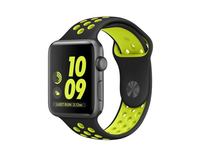 TECH-PROTECT Sports Softband - Black / Lime - Λουράκι Σιλικόνης για Apple Watch 42/44mm (1/2/3/4/5/6/SE)