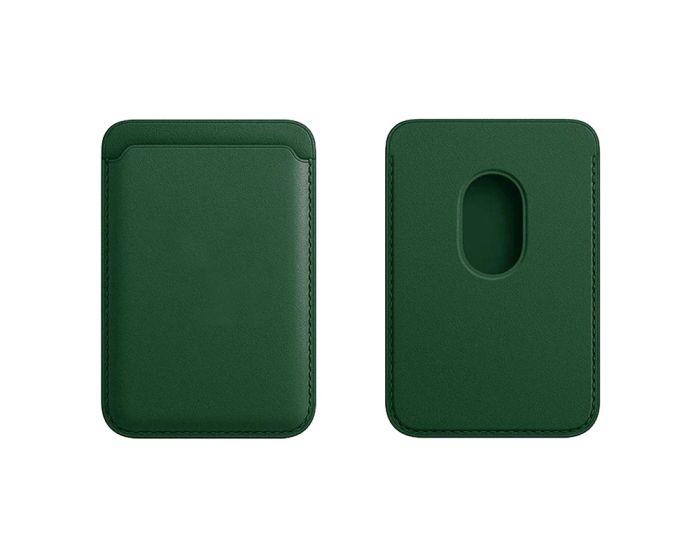 Tel Protect MagPocket Μαγνητική Θήκη Κάρτας για iPhone 12 Series - Dark Green