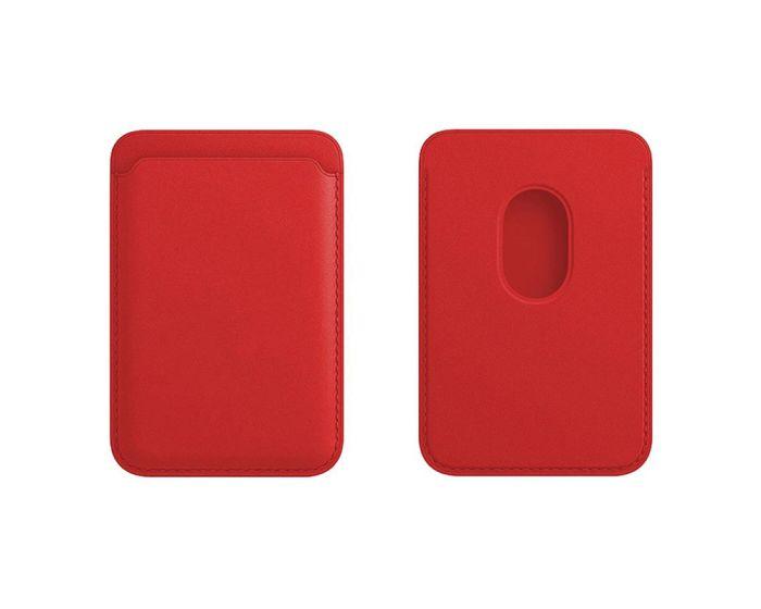 Tel Protect MagPocket Μαγνητική Θήκη Κάρτας για iPhone 12 Series - Red