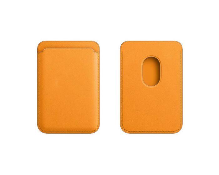 Tel Protect MagPocket Μαγνητική Θήκη Κάρτας για iPhone 12 Series - Yellow