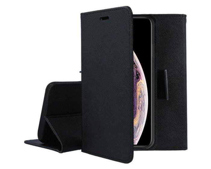 Tel1 Fancy Diary Case Θήκη Πορτοφόλι με δυνατότητα Stand Black (Nokia 3.4)