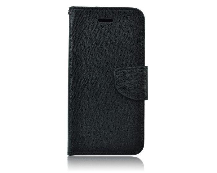 Tel1 Fancy Diary Θήκη Πορτοφόλι με δυνατότητα Stand Black (iPhone XR)