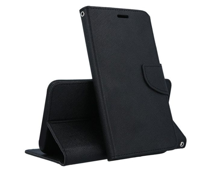 Tel1 Fancy Diary Case Θήκη Πορτοφόλι με δυνατότητα Stand Black (Honor 20 Lite)