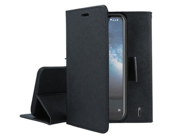Tel1 Fancy Diary Case Θήκη Πορτοφόλι με δυνατότητα Stand Black (Nokia 2.2)