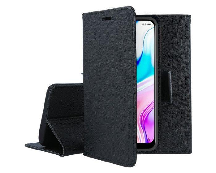 Tel1 Fancy Diary Case Θήκη Πορτοφόλι με δυνατότητα Stand Black (Xiaomi Redmi 8)