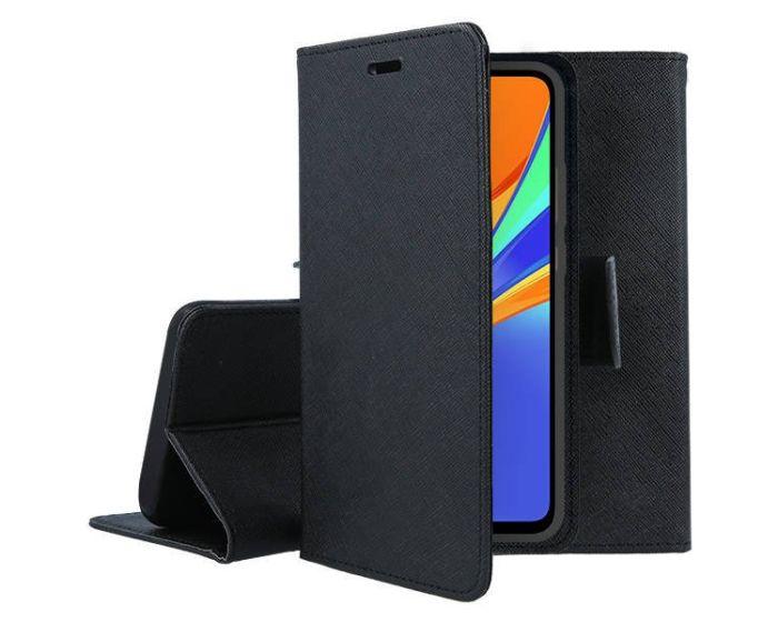 Tel1 Fancy Diary Case Θήκη Πορτοφόλι με δυνατότητα Stand Black (Xiaomi Redmi 9C)
