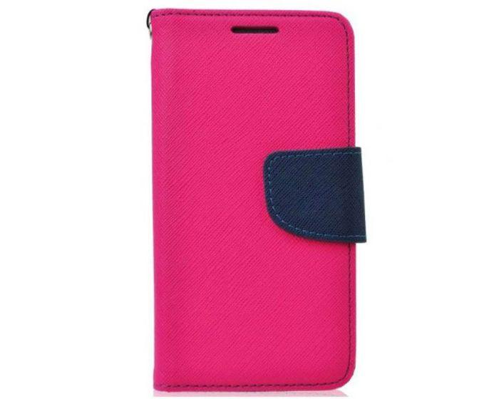 Tel1 Fancy Diary Θήκη Πορτοφόλι με δυνατότητα Stand Pink / Navy (Nokia Lumia 930)