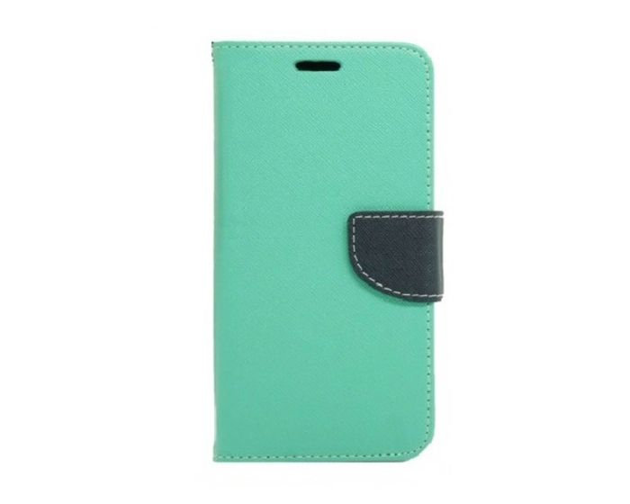 Tel1 Fancy Diary Θήκη Πορτοφόλι με δυνατότητα Stand Mint / Navy (Samsung Galaxy J2)