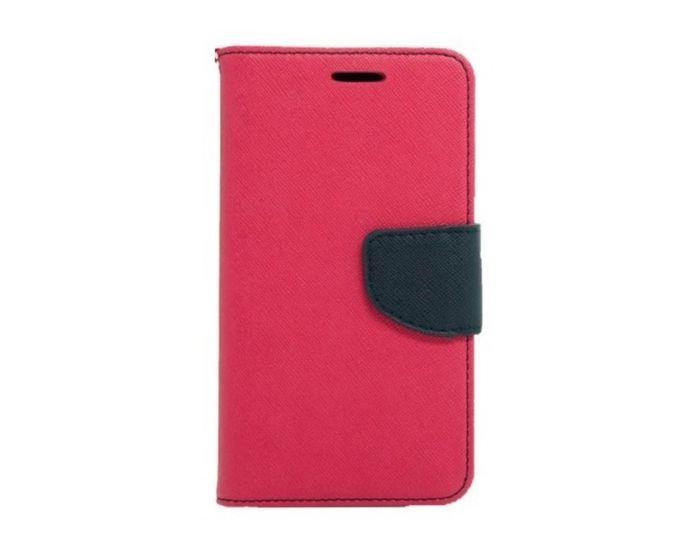 Tel1 Fancy Diary Θήκη Πορτοφόλι με δυνατότητα Stand Pink / Navy (Samsung Galaxy J2)