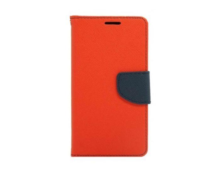 Tel1 Fancy Diary Θήκη Πορτοφόλι με δυνατότητα Stand Red / Navy (Samsung Galaxy J2)