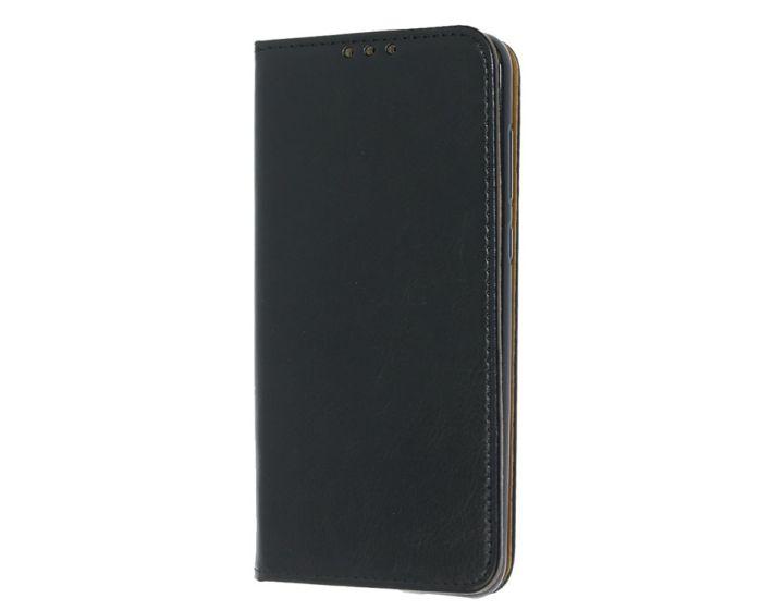 Tel1 Genuine Leather Wallet Case Stand Δερμάτινη Θήκη Πορτοφόλι - Μαύρη (Motorola Moto G5s)