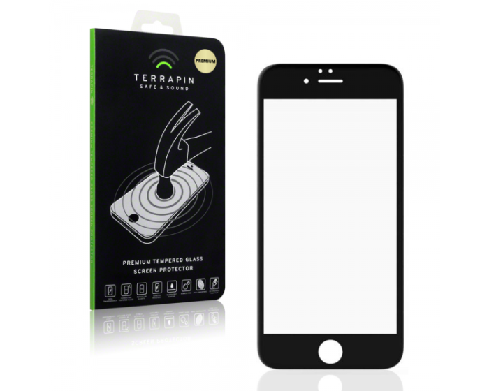 Terrapin Edge To Edge Curved Tempered Glass (006-113-012) Αντιχαρακτικό Γυάλινο Screen Protector - Black (iPhone 6 / 6s)