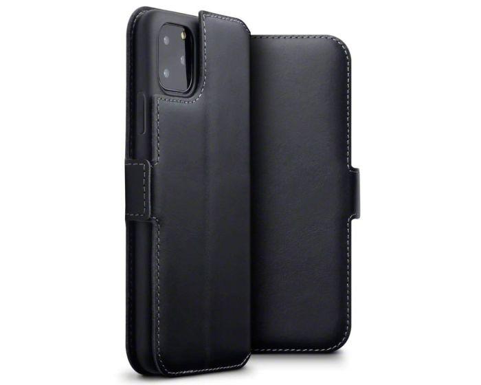 Terrapin Low Profile Δερμάτινη Θήκη - Πορτοφόλι Wallet Case (117-131-001) Μαύρο (iPhone 11 Pro Max)