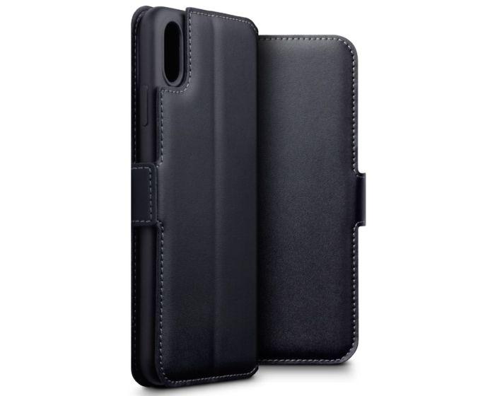 Terrapin Low Profile Δερμάτινη Θήκη - Πορτοφόλι Wallet Case (117-126-001) Μαύρο (iPhone Xs Max)