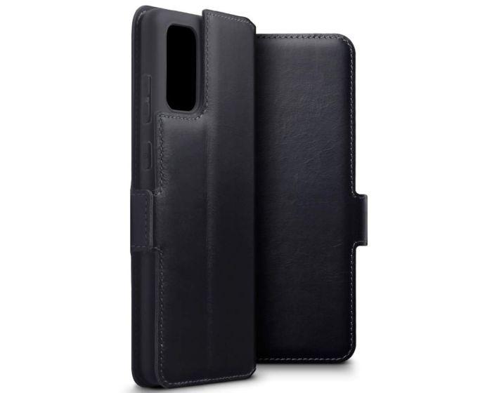 Terrapin Low Profile Δερμάτινη Θήκη - Πορτοφόλι Wallet Case (117-002a-234) Μαύρο (Samsung Galaxy S20 Plus)