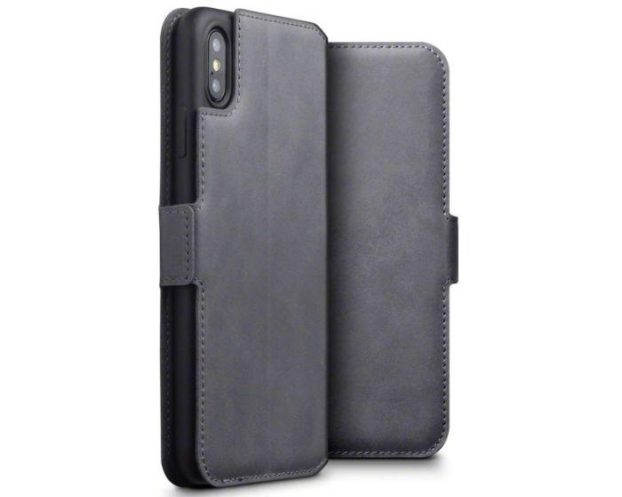 Terrapin Low Profile Δερμάτινη Θήκη - Πορτοφόλι Wallet Case (117-126-004) Grey (iPhone Xs Max)