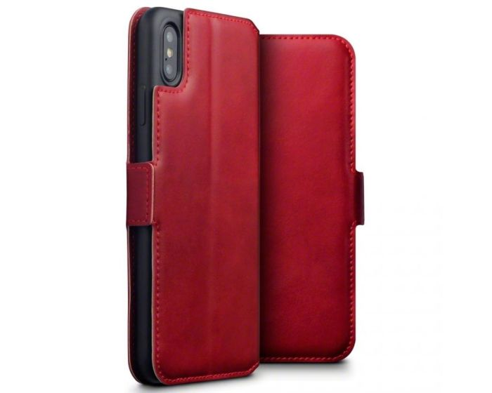 Terrapin Low Profile Δερμάτινη Θήκη - Πορτοφόλι Wallet Case (117-126-005) Red (iPhone Xs Max)