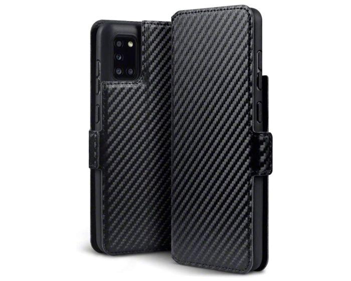 Terrapin Low Profile Θήκη Πορτοφόλι Wallet Case (117-002a-316) Carbon Fibre Black (Samsung Galaxy A31)