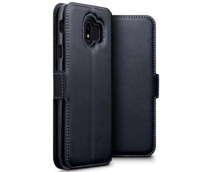 Terrapin Low Profile Δερμάτινη Θήκη - Πορτοφόλι Wallet Case (117-002a-075) Μαύρο (Samsung Galaxy J4 2018)