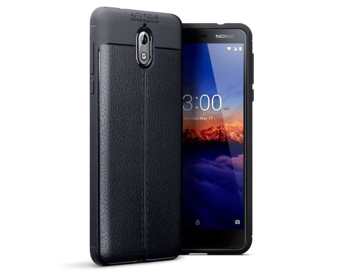 Terrapin Rugged Armor Football Grain Case (118-001-266) Black (Nokia 3.1 2018)
