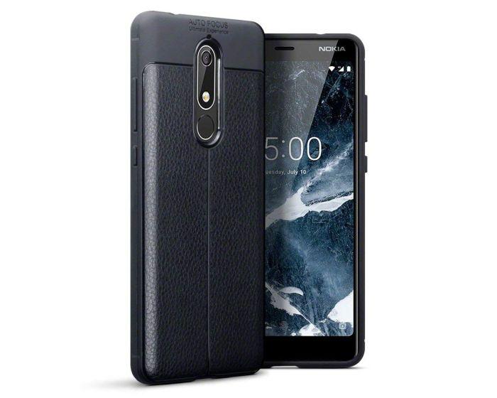 Terrapin Rugged Armor Football Grain Case (118-001-271) Black (Nokia 5.1 2018)