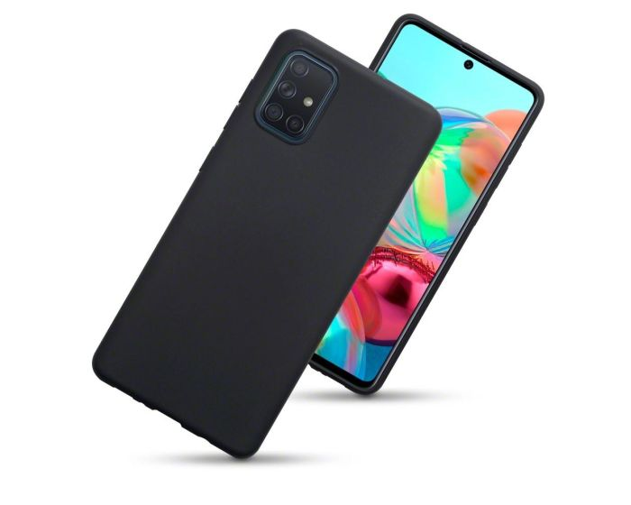 Terrapin Θήκη Σιλικόνης Slim Fit Silicone Case (118-002-807) Black Matte (Samsung Galaxy A71)