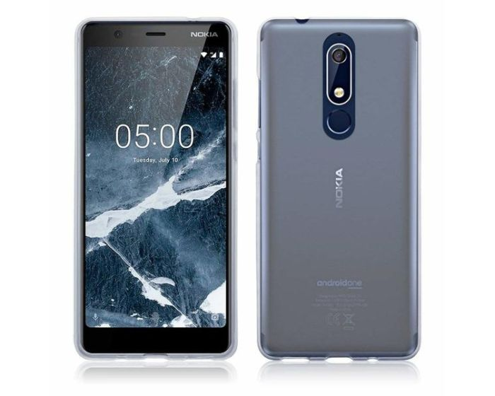 Terrapin Θήκη Σιλικόνης Slim Fit Silicone Case (118-001-267) Ημιδιάφανο Λευκό (Nokia 5.1 2018)