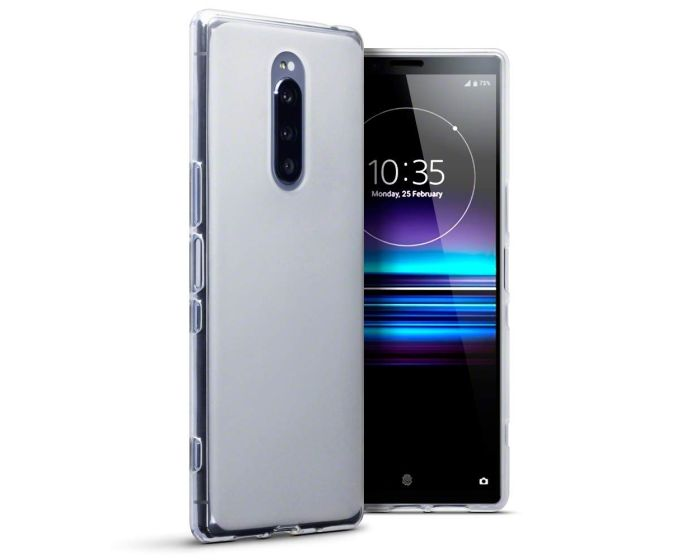 Terrapin Θήκη Σιλικόνης Slim Fit Silicone Case (118-005-499) Clear / White (Sony Xperia 1)