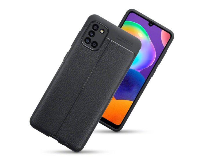 Terrapin Θήκη Σιλικόνης Slim Fit Silicone Case Leather Texture Pattern (118-002-855) Black (Samsung Galaxy A31)