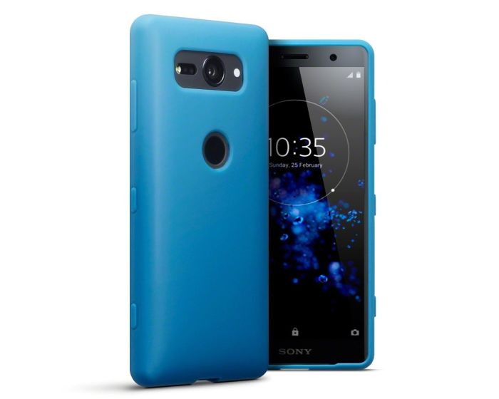 Terrapin Θήκη Σιλικόνης Slim Fit Silicone Case (118-005-469) Light Blue Matte (Sony Xperia XZ2 Compact)