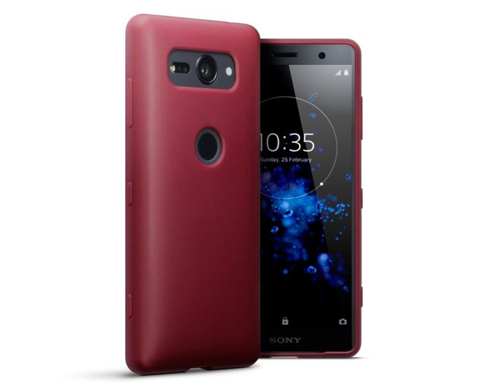 Terrapin Θήκη Σιλικόνης Slim Fit Silicone Case (118-005-467) Red (Sony Xperia XZ2 Compact)