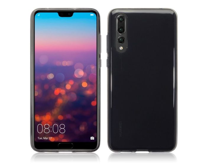 Terrapin Θήκη Σιλικόνης Slim Fit Silicone Case (118-083-155) Smoke Black (Huawei P20 Pro)