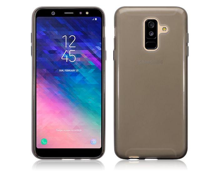 Terrapin Θήκη Σιλικόνης Slim Fit Silicone Case (118-002-695) Ημιδιάφανη Μαύρη (Samsung Galaxy A6 Plus 2018)