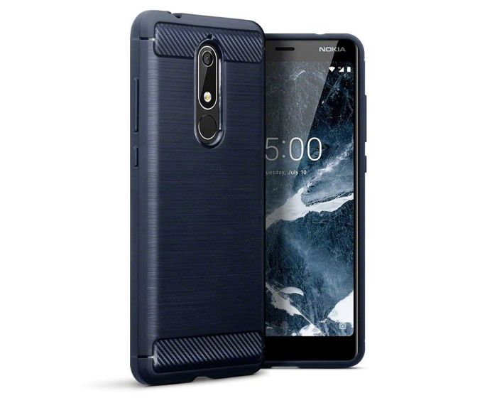 Terrapin Carbon Rugged Armor Case (118-001-270) Dark Blue (Nokia 5.1 2018)