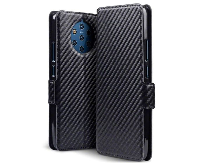 Terrapin Θήκη Πορτοφόλι Wallet Case (117-001-321) Carbon Fibre Black (Nokia 9 PureView)