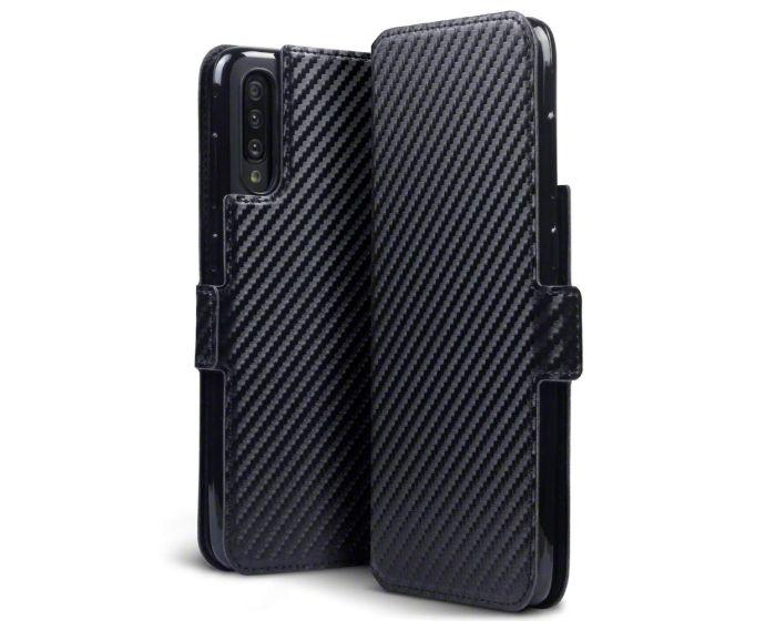 Terrapin Θήκη Πορτοφόλι Wallet Case (117-002a-157) Carbon Fibre Black (Samsung Galaxy A70)