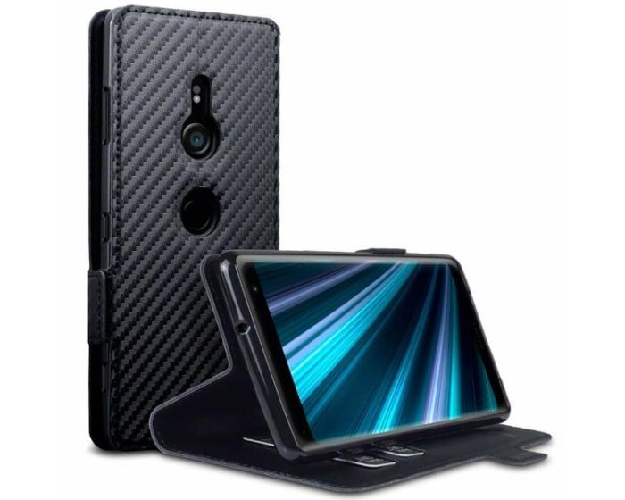 Terrapin Θήκη Πορτοφόλι Wallet Case (117-005-643) Carbon Fibre Black (Sony Xperia XZ3)