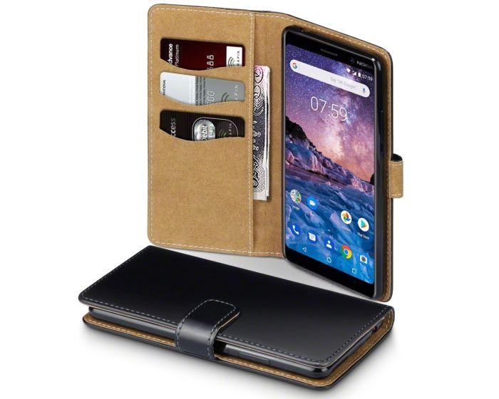 Terrapin Θήκη Πορτοφόλι Wallet Case (117-001-281) Black / Tan (Nokia 7 Plus)