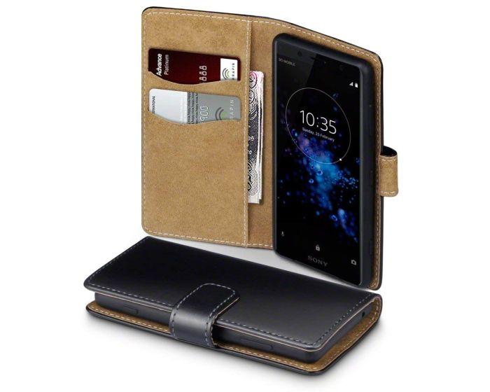 Terrapin Θήκη Πορτοφόλι Wallet Case (117-005-618) Black / Tan (Sony Xperia XZ2 Compact)