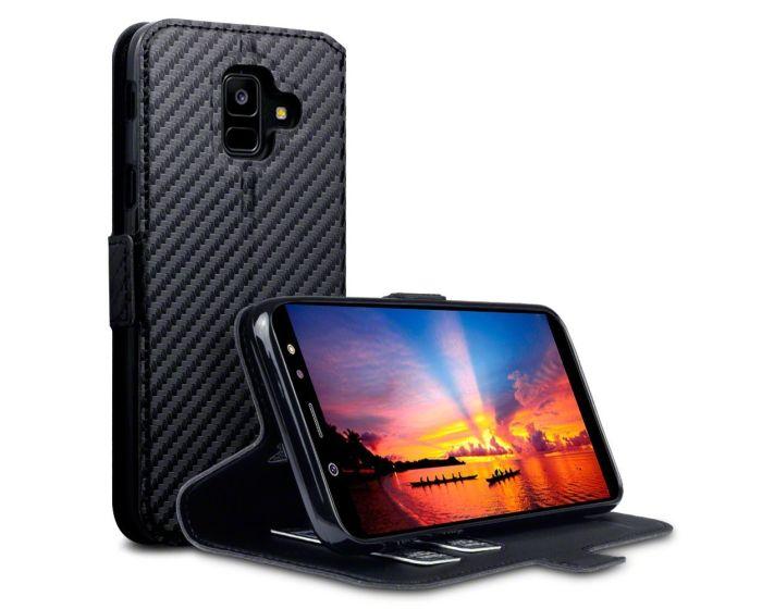 Terrapin Low Profile Θήκη Πορτοφόλι Wallet Case (117-002a-072) Carbon Fibre Black (Samsung Galaxy A6 Plus 2018)