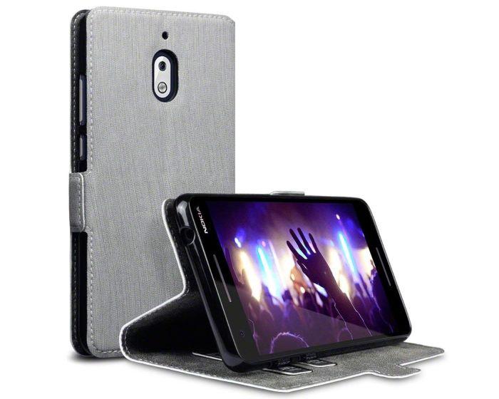 Terrapin Θήκη Πορτοφόλι Wallet Case (117-001-303) Γκρι (Nokia 2.1 2018)