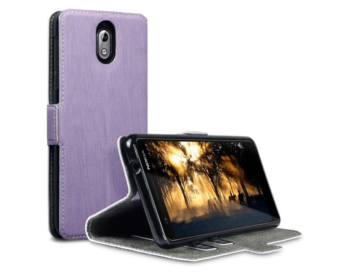Terrapin Θήκη Πορτοφόλι Stand Case (117-001-289) Μωβ (Nokia 3.1 2018)