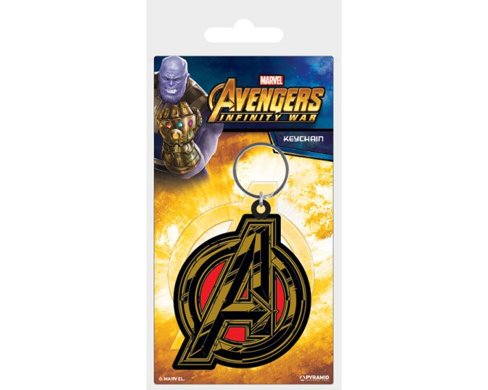 Avengers: Infinity War (Avengers Symbol) Rubber Keychain - Μπρελόκ