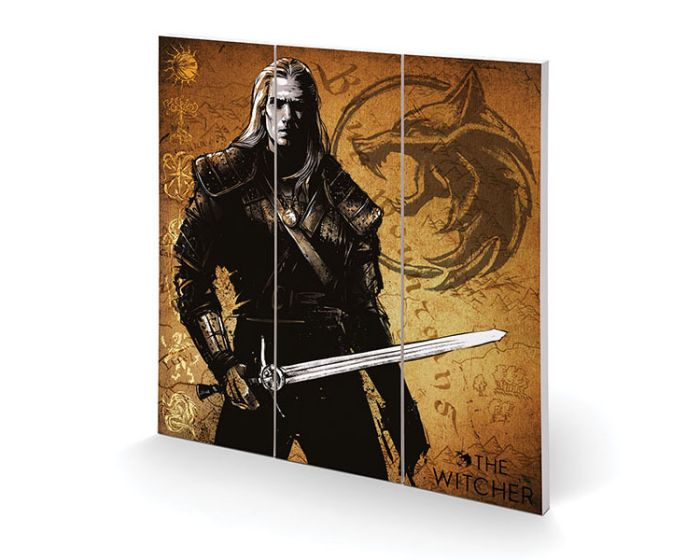 The Witcher (As it is Written) Wood Print - Ξύλινη Ταμπέλα Διακόσμησης 30x30cm