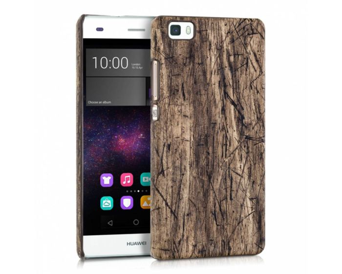 KWmobile Vintage Wood Design Hard Case (34576.05) Θήκη Πλαστική (Huawei Ascend P8 Lite)