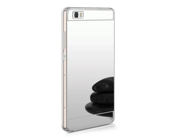 Forcell Mirror Slim Fit Gel Case Θήκη Σιλικόνης Silver (Huawei Ascend P8 Lite)