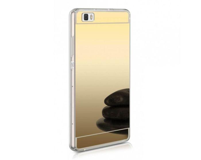 Forcell Mirror Slim Fit Gel Case Θήκη Σιλικόνης Gold (Huawei Ascend P8 Lite)