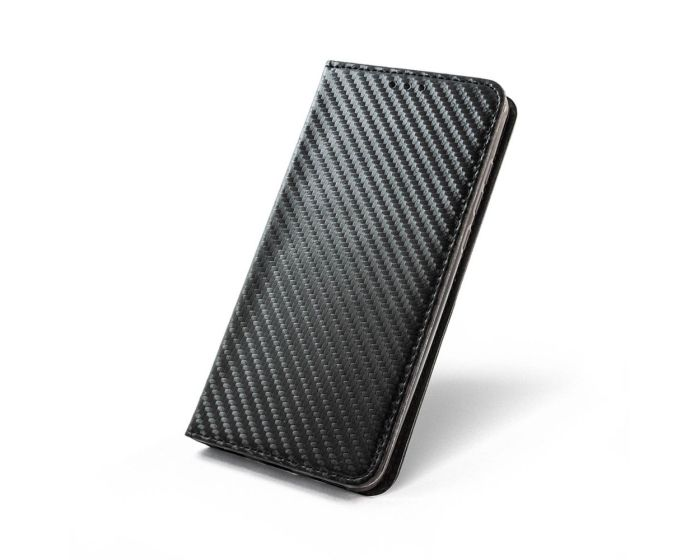 Smart Carbon Book Case με Δυνατότητα Stand - Θήκη Πορτοφόλι Μαύρη (Xiaomi Redmi 4X)