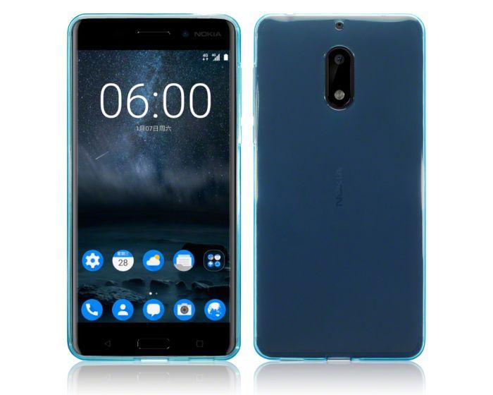Terrapin Θήκη Σιλικόνης Slim Fit Silicone Case (118-001-230) Ημιδιάφανη Γαλάζια (Nokia 6)
