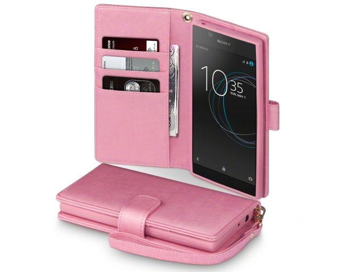 Terrapin Θήκη Πορτοφόλι Wallet Stand Case (117-005-520) Ροζ (Sony Xperia L1)